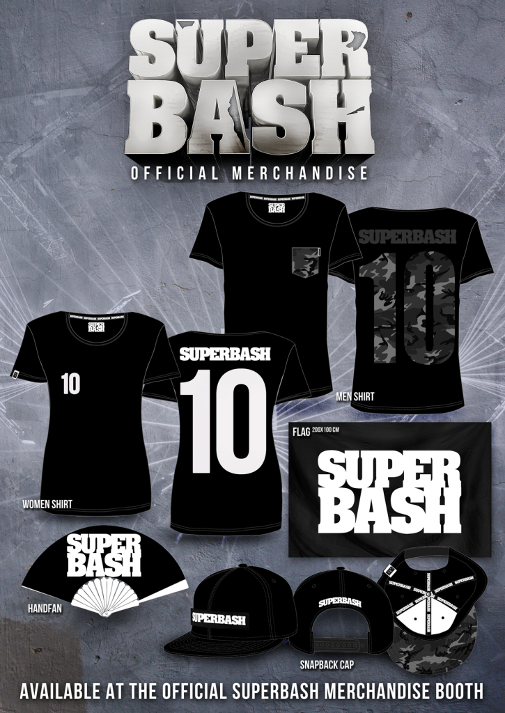 Official SUPERBASH Merchandise