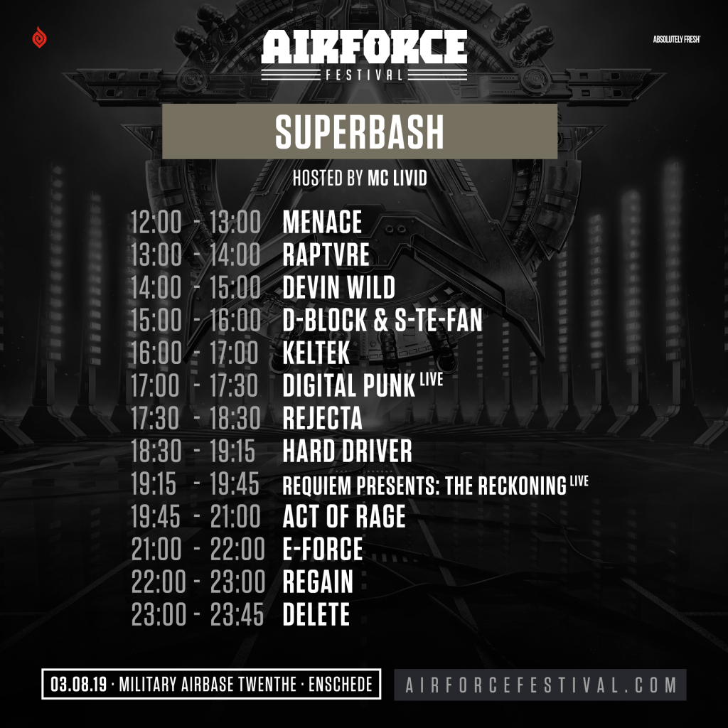 timetable superbash op airforce festival
